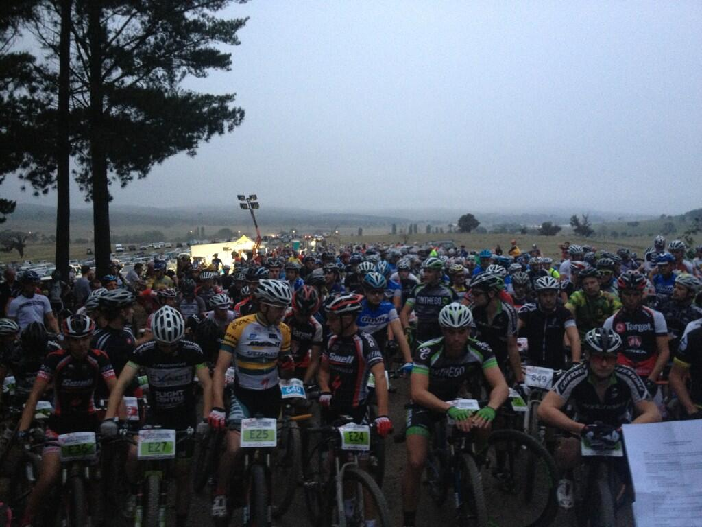 A very dark 100km startline
